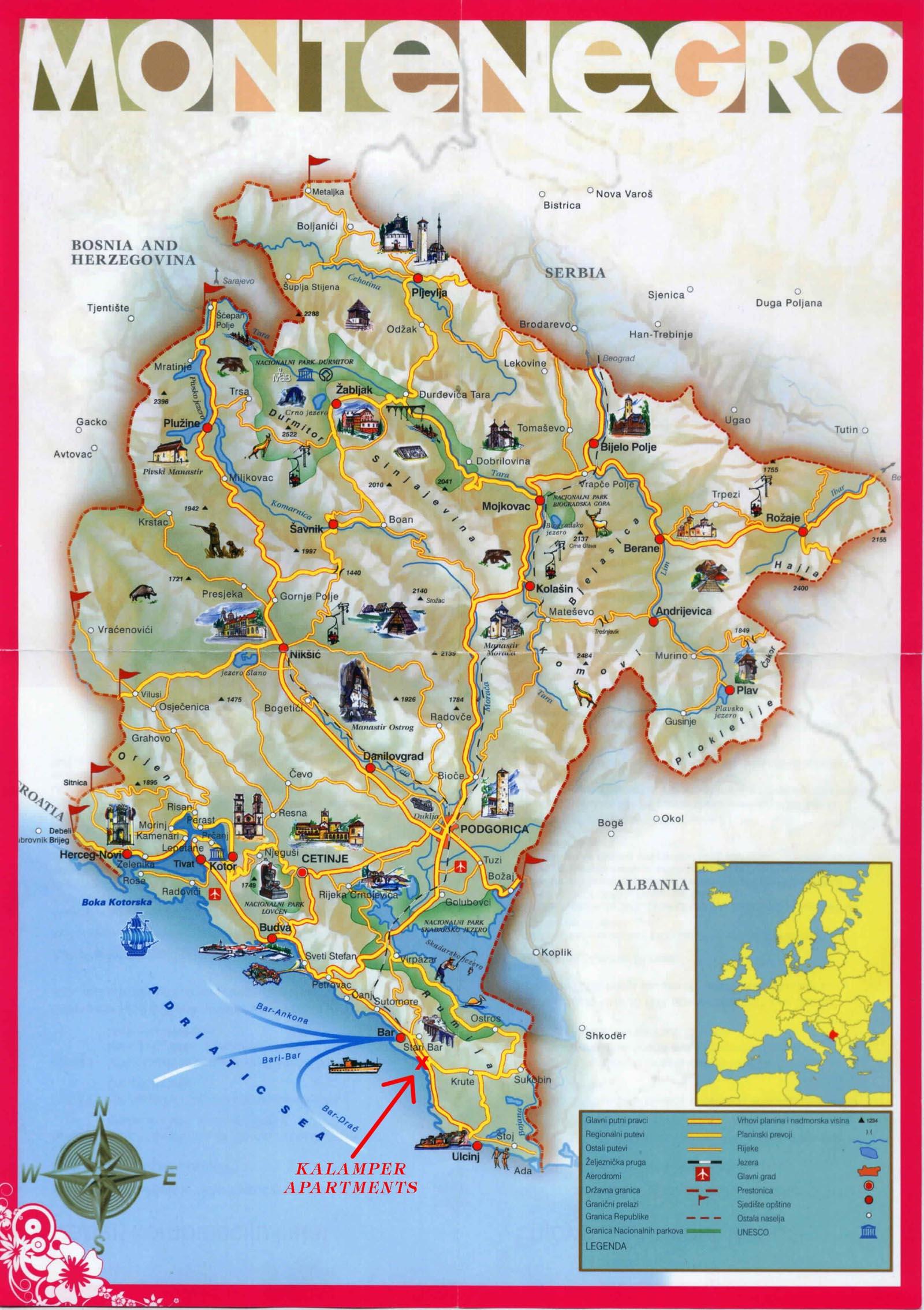 Mapa Grada Durmitor Com
